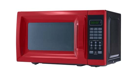 Mainstays Red Microwave under $50