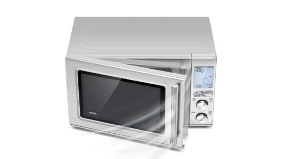 brushed-stainless-steel-casing-of-backlit-keypad-microwave