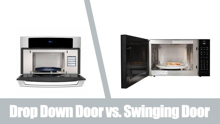 drop-down-door-vs-swinging-door-microwave