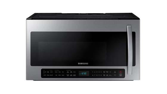 Samsung ME21R7051SS Microwave with Metal Rack